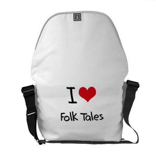 I Love Folk Tales Messenger Bag