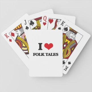 i LOVE fOLK tALES Poker Cards