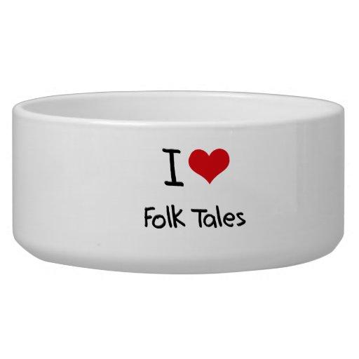 I Love Folk Tales Pet Food Bowl