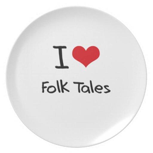 I Love Folk Tales Plate
