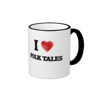 I love Folk Tales Ringer Mug