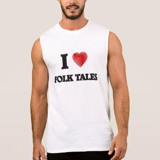 I love Folk Tales Sleeveless Shirt