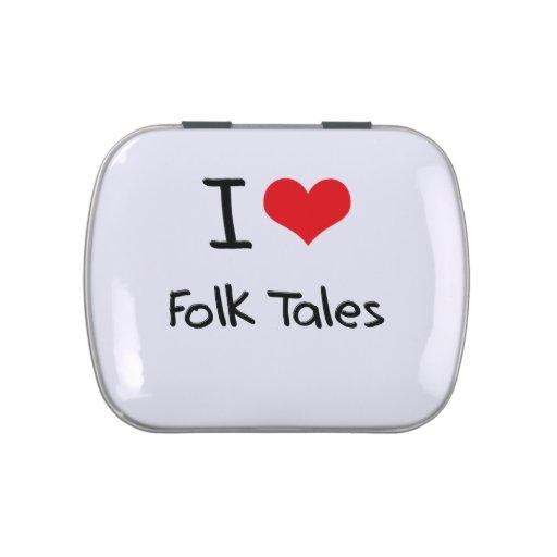 I Love Folk Tales Jelly Belly Candy Tin