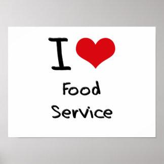I Love Food Service Print