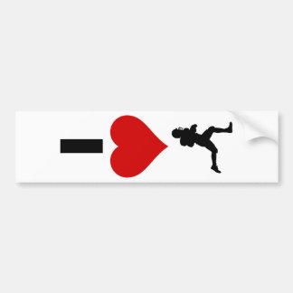 I Love Football (Vertical) Bumper Sticker