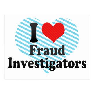 I Love Fraud Investigators Post Cards