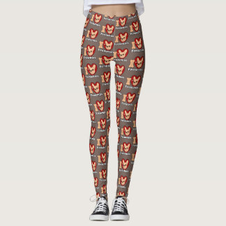 I Love Frenchies design for all Frenchie Lovers Leggings