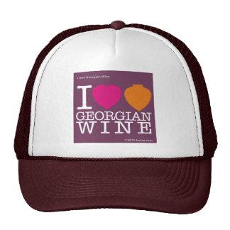 """I Love Georgian Wine"" purple logo Cap Trucker Hat"