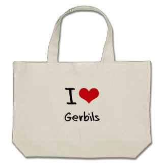 I Love Gerbils Tote Bags