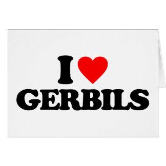 I LOVE GERBILS CARDS