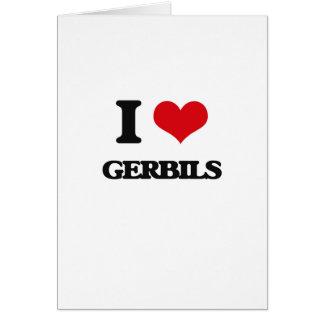 I love Gerbils Greeting Card