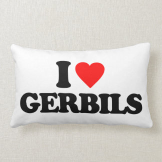I LOVE GERBILS PILLOWS