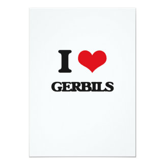 "I love Gerbils 5"" X 7"" Invitation Card"
