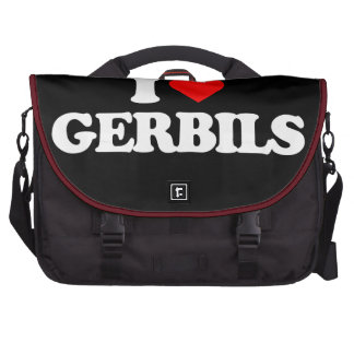 I LOVE GERBILS BAGS FOR LAPTOP
