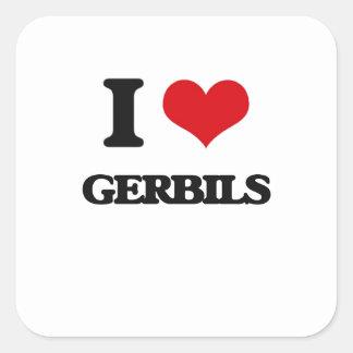 I love Gerbils Square Sticker