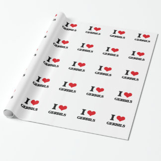 I love Gerbils Gift Wrap Paper