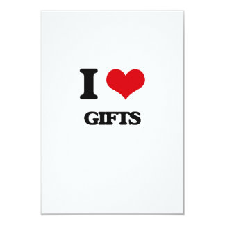 "I love Gifts 3.5"" X 5"" Invitation Card"