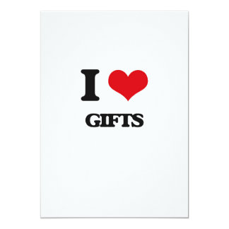 "I love Gifts 5"" X 7"" Invitation Card"