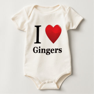 I Love Gingers Pajamas Baby Bodysuit