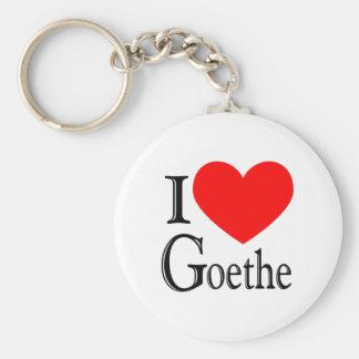 I Love Goethe Key Ring