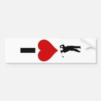 I Love Golf (Vertical) Bumper Stickers