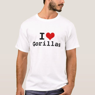I Love Gorillas Men's Basic T-Shirt
