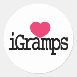I Love Gramps Classic Round Sticker