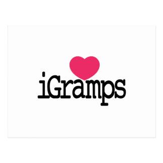 I Love Gramps Postcard