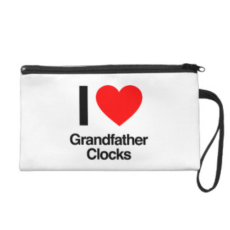 i love grandfather clocks wristlet clutches