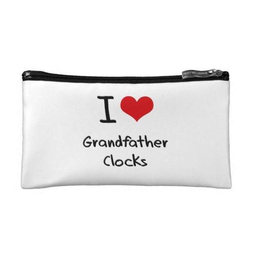 I Love Grandfather Clocks Cosmetic Bag
