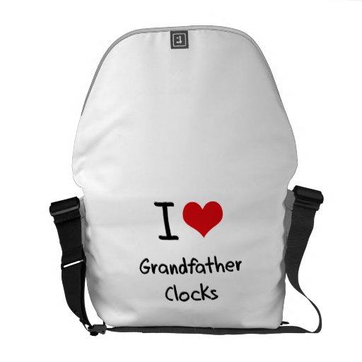I Love Grandfather Clocks Courier Bags