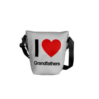 i love grandfathers messenger bags