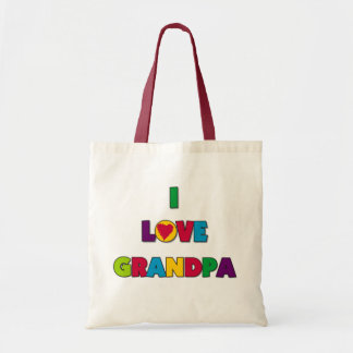 I Love Grandpa Tshirts and Gifts Budget Tote Bag