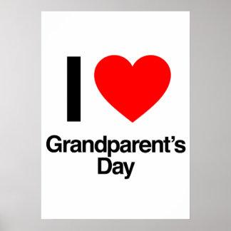 i love grandparent's day poster