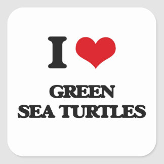 I love Green Sea Turtles Stickers