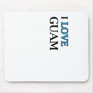 I Love Guam Design Mouse Pad