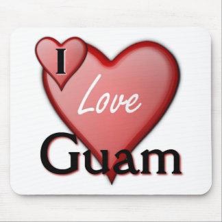 I Love Guam Mouse Pad