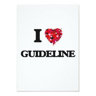 I Love Guideline 13 Cm X 18 Cm Invitation Card