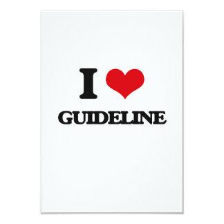 I love Guideline 9 Cm X 13 Cm Invitation Card