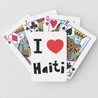 I love Haiti Bicycle Playing Cards