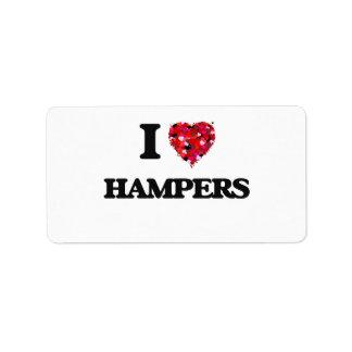 I Love Hampers Address Label