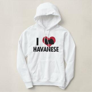 I Love Havanese Embroidered Hoodie