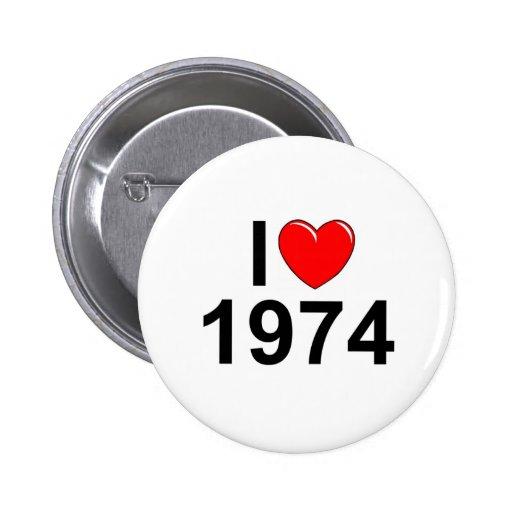 I Love (Heart) 1974 Button