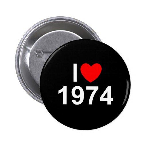 I Love (Heart) 1974 Pinback Buttons