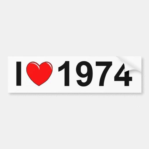 I Love (Heart) 1974 Bumper Stickers