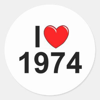 I Love (Heart) 1974 Sticker