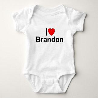 I Love (Heart) Brandon Baby Bodysuit