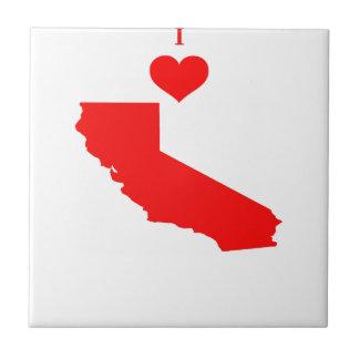I Love (Heart) California Tile