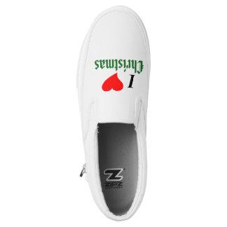 I Love (heart) Christmas Slip-On Shoes