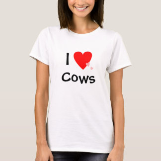 I Love (Heart) Cows T-Shirt